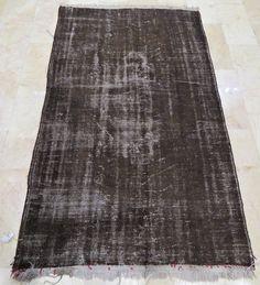 olives black vintage rug turkish vintage rug 55''x 90'' inches  (2,29x1,39 cm ) turkish oushak rug, vintage carpet, carpet, rugs, No:943 by farcornersarts on Etsy