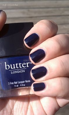 I've been wanting navy nail polish for a while.