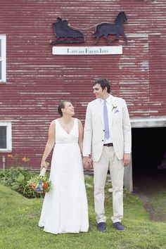 Kind of looks like our two! Not as cute of course :) Read More: http://www.stylemepretty.com/2014/08/29/vermont-barn-wedding-at-lareau-farm-inn/