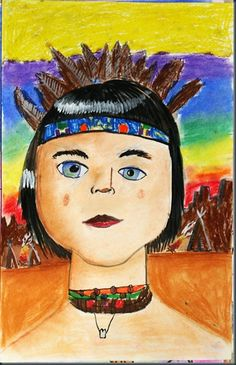 Great portrait project for incorporating social studies.