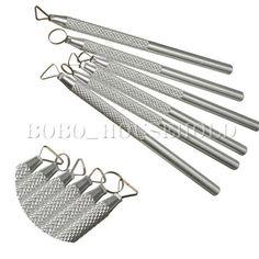 Lot 6 outils de poterie en aluminium sculpture modelage argile fimo gravure