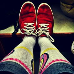 My fav shoes (Vans) ft. fav socks (OF) - Best combo.