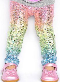 Darling unicorn leggings for little girls