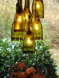 Wine Bottle Recycled Chandelier