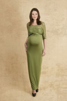 Green Cocktail Maternity Dress