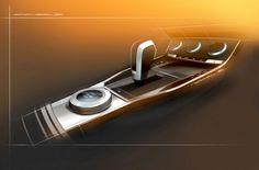 SEAT 20V20 Concept - Interior Design Sketch - Center Tunnel