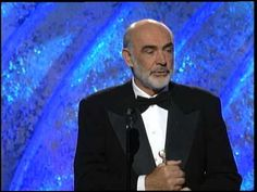 Golden Globes 1996 - Sean Connery accepting the Cecil B DeMille Award Michael Crichton, Nicolas Cage, John Travolta, Sean Connery, Golden Globes, Bond, Awards, Cinema, Photo And Video