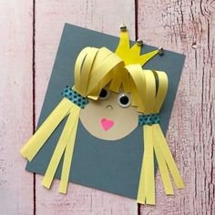 Kids Crafts, Summer Crafts, Projects For Kids, Diy For Kids, Easy Crafts, Diy And Crafts, Arts And Crafts, Paper Crafts, Princess Crafts