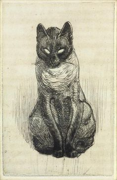 Petit Chat Siamois Assis (1914)  ~*~ Theophile Alexandre Steinlen