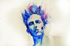 nice watercolor self portrait