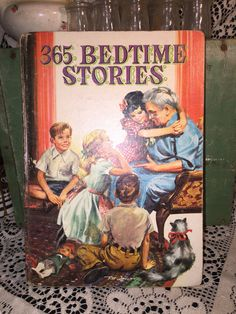 Vintage Childrens Book; 365 Bedtime Stories for Children; Collectible Old Book…