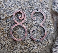 House Number /Black copper / Home Number / House Address / Home Address / Metal house number / Address numbers / Three colors / Rustic decor Address Numbers, Address Plaque, Metal House Numbers, House Address, Metal Background, Horseshoe Art, Iron Furniture, Forged Steel, Cool Items