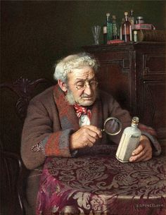 """A Touch Of Rheumatism"" ... by Charles Spencelayh"