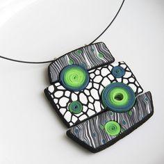 Geometrical pendant (inspired by Eva Hašková) | Marta Navrátilová - Šperkovna