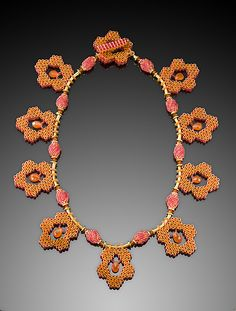 Carnelian Cages by Kathy King: Beaded Necklace - STUDIO SALE available at www.artfulhome.com