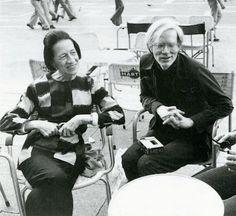 Diana Vreeland & Andy Warhol, 1973