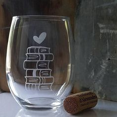 #BookLover Wine Glass #BookishGifts WritersRelief.com