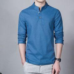 Light Linen Summer Shirt - Long Sleeve