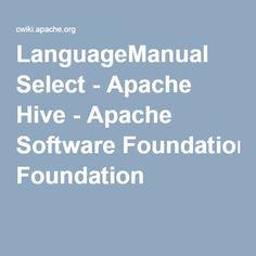 LanguageManual Select - Apache Hive - Apache Software Foundation