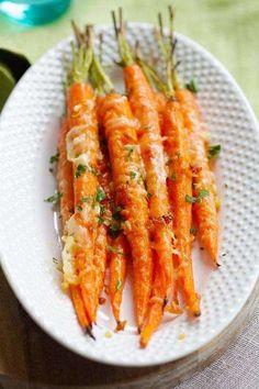 recette économique de carottes à l'ail et au parmesan