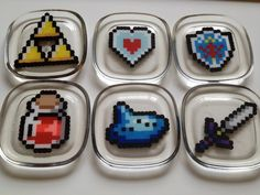 1000 images about diy craft legend of zelda on for Best coasters for sweaty drinks