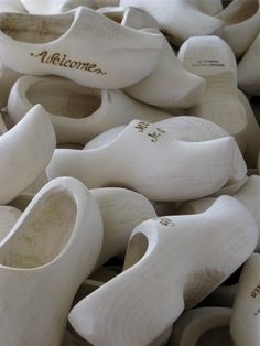 Wooden Shoes.  I remember the smell of fresh-carved wooden shoes as a kid.