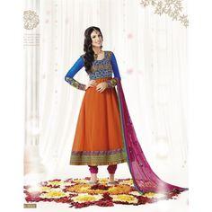 Bollywood Raveena Tandon Embroidery Designer Long Anarkali Suit  - Online Shopping for Salwar Suit by Viva N Diva