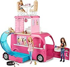 Buy Barbie Pop-Up Camper Vehicle Play Toy Fun Game Kids Girls Car Van Travel Camper at online store Barbie Camper Van, Camping Car Barbie, Mattel Barbie, Barbie Van, Barbie Doll Car, Barbie Stuff, Barbie Dream, Poupées Our Generation, Barbie And Her Sisters