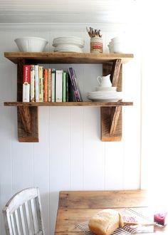 Deko Ideen aus wiedergewonnenem Holz möbel offen regale küche