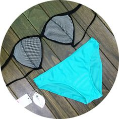 Fashion sexy Light blue beach bikini
