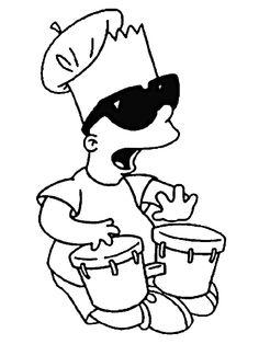 Dibujos para Colorear Los Simpsons 6