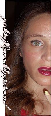 #makeup #redlips #greeneyes