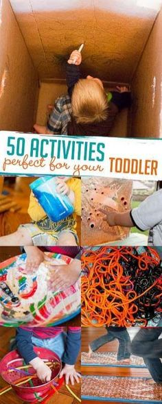 50 simple activities for toddlers - these will be perfect! via @handsonaswegrow