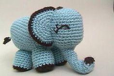 Amigurumi Elephant Crochet Pattern - available in Cute Little Animals