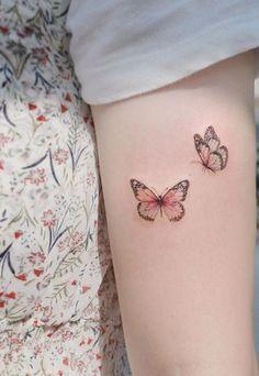 butterfly tattoo sleeve - butterfly tattoo + butterfly tattoo designs + butterfly tattoo small + butterfly tattoo meaning + butterfly tattoo sleeve + butterfly tattoo behind ear + butterfly tattoo arm + butterfly tattoo on foot Purple Butterfly Tattoo, Purple Tattoos, Dainty Tattoos, Butterfly Tattoo Designs, Pretty Tattoos, Mini Tattoos, Foot Tattoos, Beautiful Tattoos, Small Tattoos