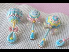 NEW Video Release: How to Make 3-D Baby Rattle Cookies (with a Surprise Gender Reveal!) by Julia M Usher of Recipes for a Sweet Life
