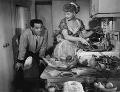 """Lucy and Desi in """"The Long, Long Trailer"""""""