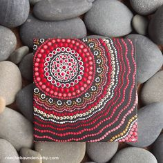 Fire Painting, Aboriginal Dot Art Painting, Acrylic paint on Canvas Board, Hand Painted Original, x Red decor Canvas Board Painting, Fire Painting, Dot Art Painting, Stone Painting, Canvas Art, Aboriginal Dot Art, Art Plastique, Stone Art, Mandala Art