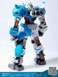 MG 1/100 Gundam AGE-1 Titus - Customized Build Modeled by Mid-Night Modeler