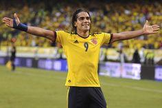 Momento en el que Falcao celebra el 2-0 sobre Paraguay el 12/10/2012 en Barranquilla.