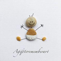 Cute baby, handmade pebble cards #agifttorememberart #pebbleart #recycledart #stones #babies #artoftheday #nature #giftideas #neshatghaffari #photooftheday #instaart #instagood #instaphoto #makersgonnamake #art #etsy #etsyseller #roomdecor #babyshowergift #handmade #handmadecards #uniquegifts