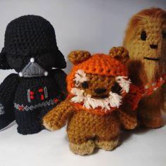 Star Wars family #starwars #amigurumi #crochet #warsie #chewbacca #ewok #darthvader #instacrochet by knit.or.die