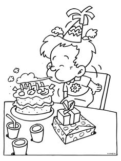 Verjaardag Kleurplaat Broer Thema Jarig Zijn On Pinterest Naar School Kindergarten