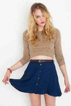 #nastygal.com             #Skirt                    #Sedona #Belted #Skirt #Navy #Clothes #Bottoms #Skirts #Nasty                 Sedona Belted Skirt - Navy in Clothes Bottoms Skirts at Nasty Gal                                       http://www.seapai.com/product.aspx?PID=1469877