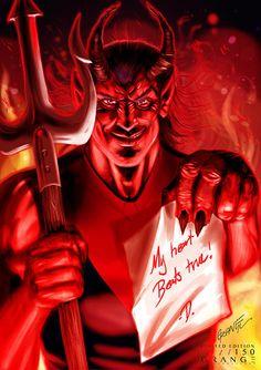 'The Raging Melbourne Demon' (My Heart Beats True) Print By Grange Wal – Grange Wallis Australia Funny, Horror Artwork, Football Team Logos, Creative Illustration, Wallis, Art Logo, In A Heartbeat, Rage, Most Beautiful Pictures