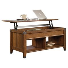 Found it at Wayfair - Carson Forge Lift Top Coffee Table in Washington Cherry