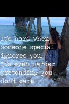 pretending, don't care, and ignore image