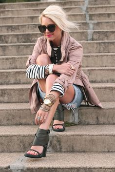 Ok.  The jewelry so accesorizes even blue jean cut-offs.  The trench is perfect.
