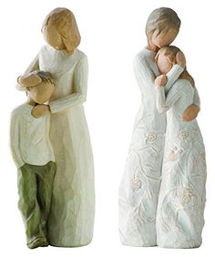 Demdaco Willow Tree Figurines by Susan Lordi: Close To Me and Mother and Son