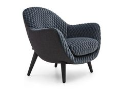 Fauteuil rembourré en tissu avec accoudoirs MAD QUEEN Collection Mad by Poliform design Marcel Wanders